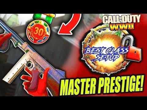 TOP WW2 PLAYER // Master Prestige // BEST CLASS SETUP SWAP CLASSES (COD WW2)