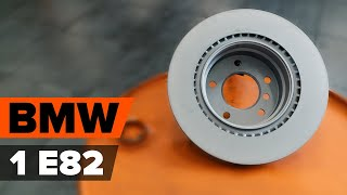 Remschijven achter en vóór monteren BMW 1 Coupe (E82): gratis video