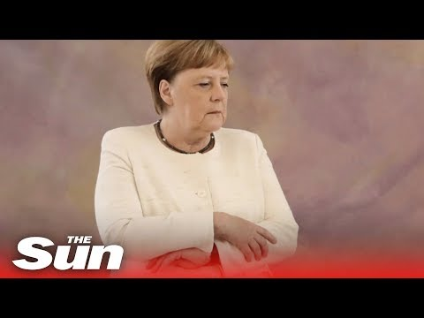 Angela Merkel seen shaking uncontrollably for second time in nine days