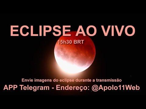 Eclipse Total Da Lua Gravado Ao Vivo Em 27 De Julho De 2018