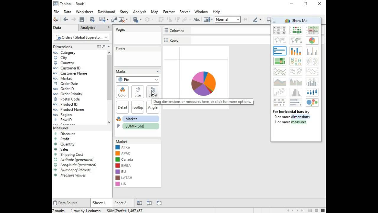 Marks and pie charts in tableau youtube marks and pie charts in tableau nvjuhfo Image collections