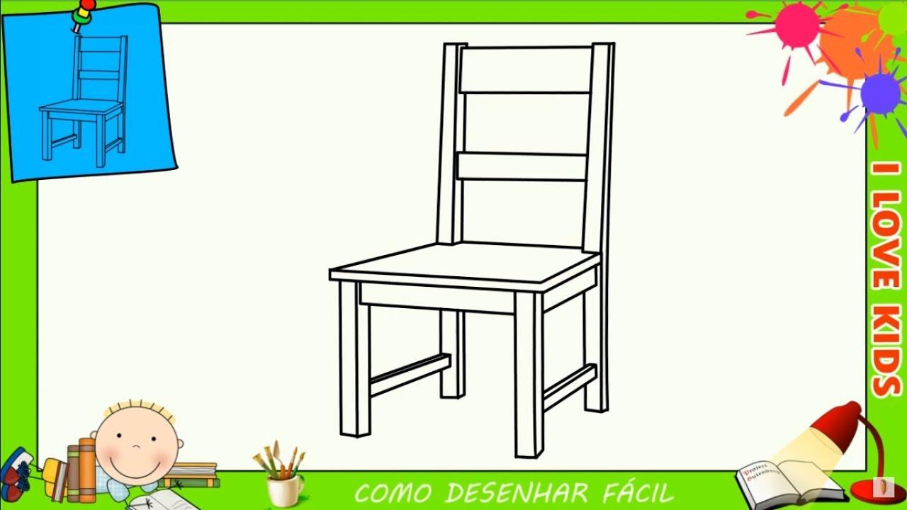 Como Desenhar Uma Cadeira Facil Passo A Passo Para Criancas E