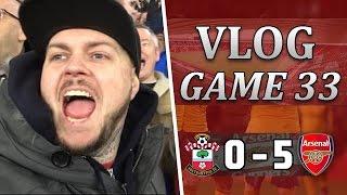 southampton 0 v 5 arsenal   the perfect birthday present   matchday vlog   game 33