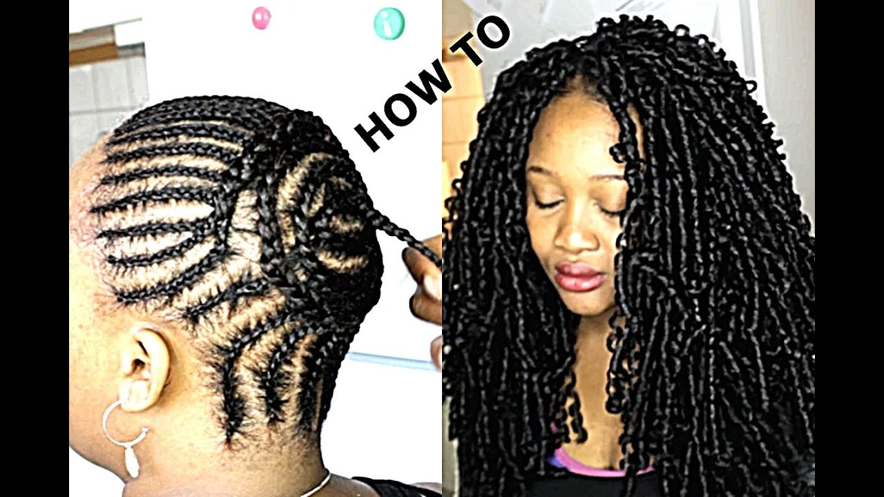 HOW TO FIX PRETTY CROCHET BRAIDS / CORNROWS - YouTube