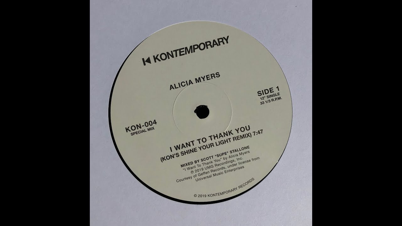 Alicia Myers I Want To Thank You Kon S Shine Your Light Remix
