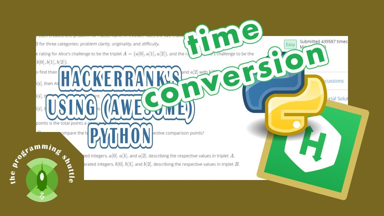 hackerrank's Time Conversion explanations using python
