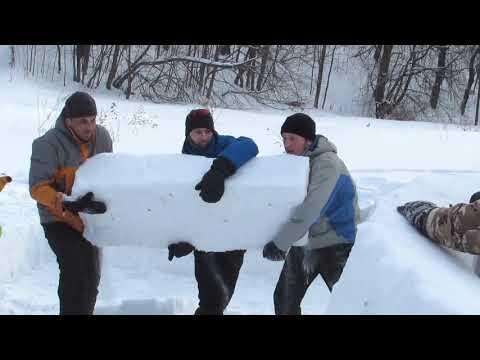 Строим снежный дом