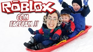 Roblox with Facecam-chased by Trolladores (Sledding)