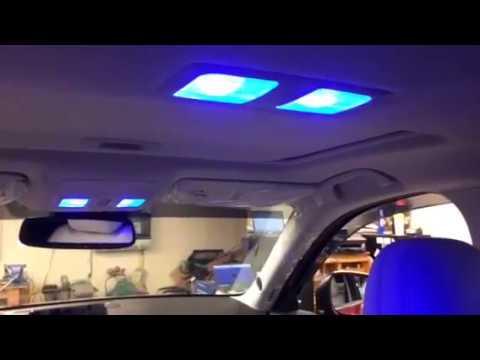 Blue Illumination Mazda CX-5 Footwells