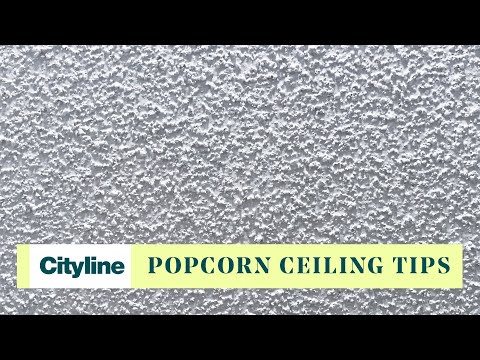 How to get rid of those dreaded popcorn ceilings
