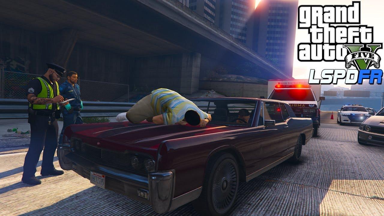 GTA 5 Mods LSPDFR 0 4 1 | Man jumps from overpass onto highway! Cool Callout