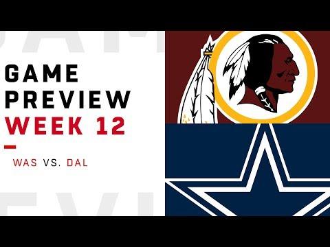 Washington Redskins vs. Dallas Cowboys | Week 12 Game Preview | NFL Playbook