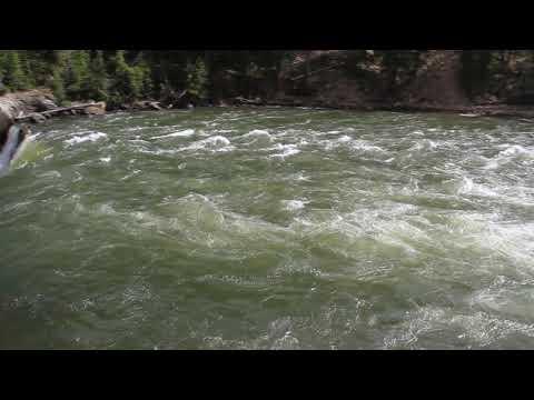 Yellowstone National Park Lower Canyon Water Fall Close-up