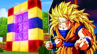 Minecraft : COMO FAZER PORTAL PARA O MUNDO  DO DRAGON BALL Z !!!