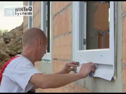 Fenstereinbau die winteq monatge youtube - Fensterbank setzen ...