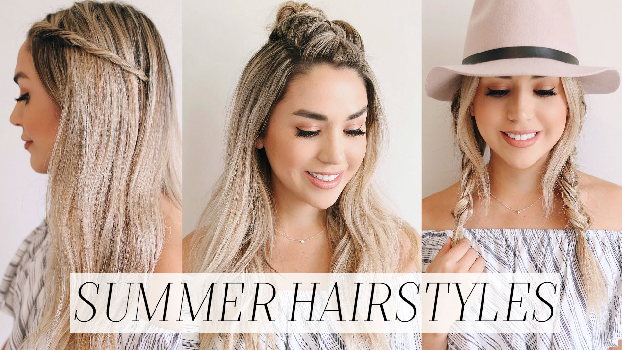 easy summer hair styles 3 easy no heat hairstyles for summer alex garza 3864 | maxresdefault