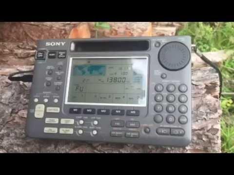 Excellent reception of Puntland Radio Somalia 13800 MHz Sony ICF-SW55