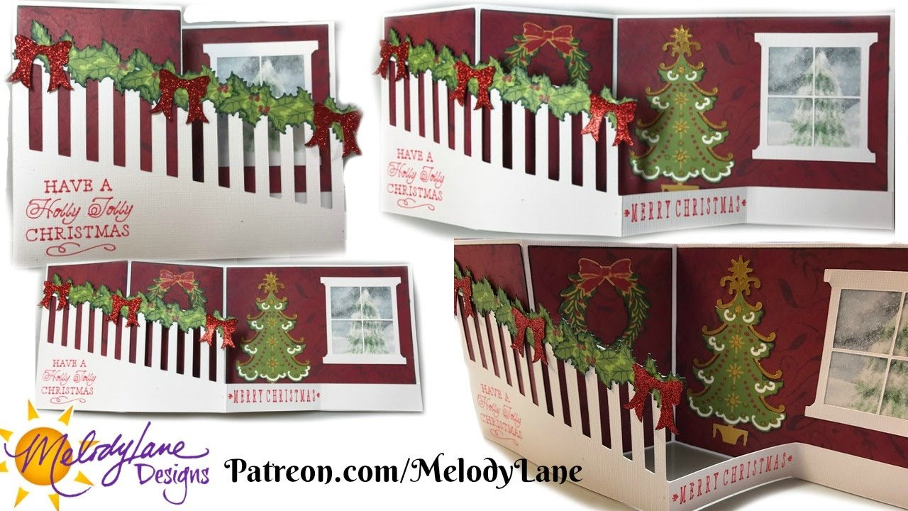 Z Fold Christmas Staircase Card YouTube
