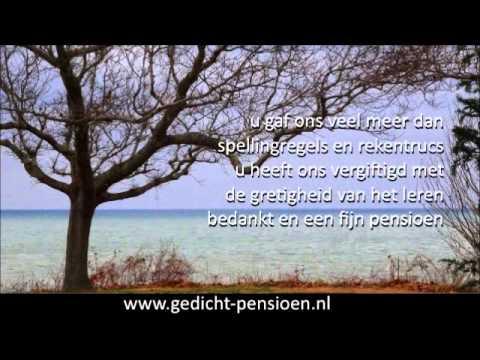 New Pensioen meester gedicht of pensionering juf - YouTube @MG29