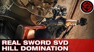 Airsoft SVD Gameplay (Real Sword)