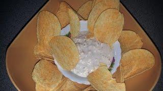 Закуска из чипсов с сырным соусом   Кулинар-Любитель