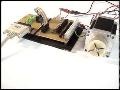 computer controlled stepper motor through parallel port