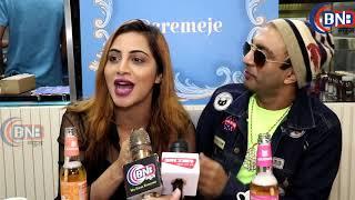 indias first  ''CREMEJE'Taime Cafe 'inaugration big boss fame  Arshi Khan ,Akash Dadlani