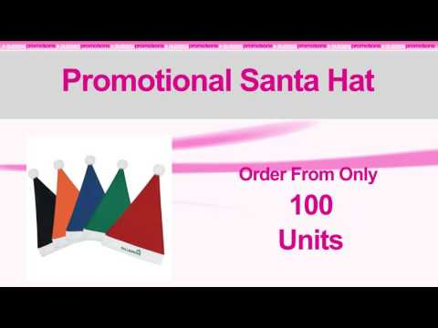 Branded Promotional Santa Hat | Imprinted Hats & Caps