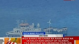 BT: Mga barko ng China na naka-base na sa Kalayaan Group of Islands, mahirap paalisin