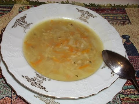 Суп из геркулесовых хлопьев