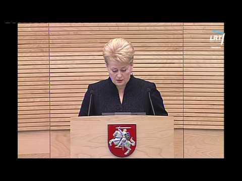Lietuvos Respublikos Prezidentės Dalios Grybauskaitės metinis pranešimas (2013 06 11)
