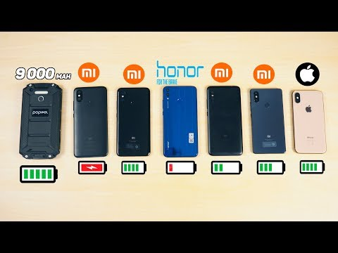 КТО ПРОЖИВЁТ ДОЛЬШЕ? iPhone XS, Xiaomi Mi 8, Redmi Note 6 Pro, Mi 8 SE, Mi A2, Honor 8X, 9 000 Mah
