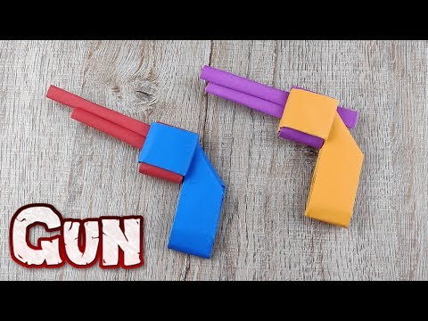 DIY Paper Gun Toy | How to Make a Double Barrel Shotgun Tutorials | Origami Weapons Craft Kids