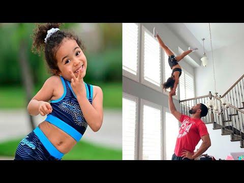 4-летняя девочка выполняет СЛОЖНЕЙШИЕ ТРЮКИ