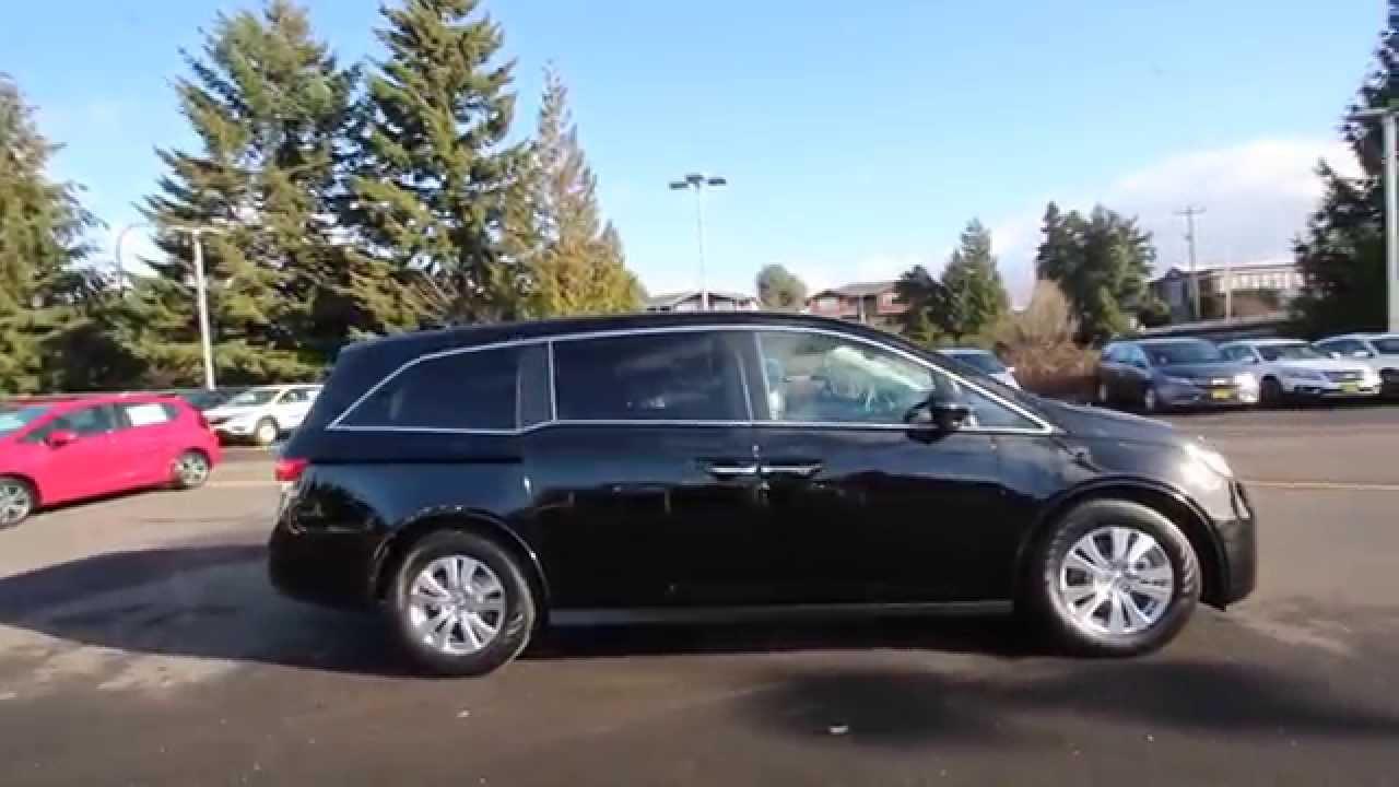 Honda Of Seattle >> 2015 Honda Odyssey EX-L | Crystal Black | FB052883 | Seattle | Renton - YouTube