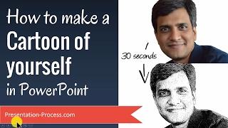 Wie man Eine Karikatur von sich Selbst in PowerPoint