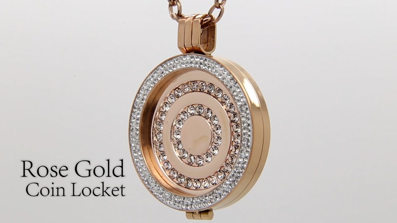 Costume Jewellery Rose Gold Coin Locket By Absolute