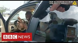 Video of George Floyd detained at gunpoint shown to US jury  - BBC News