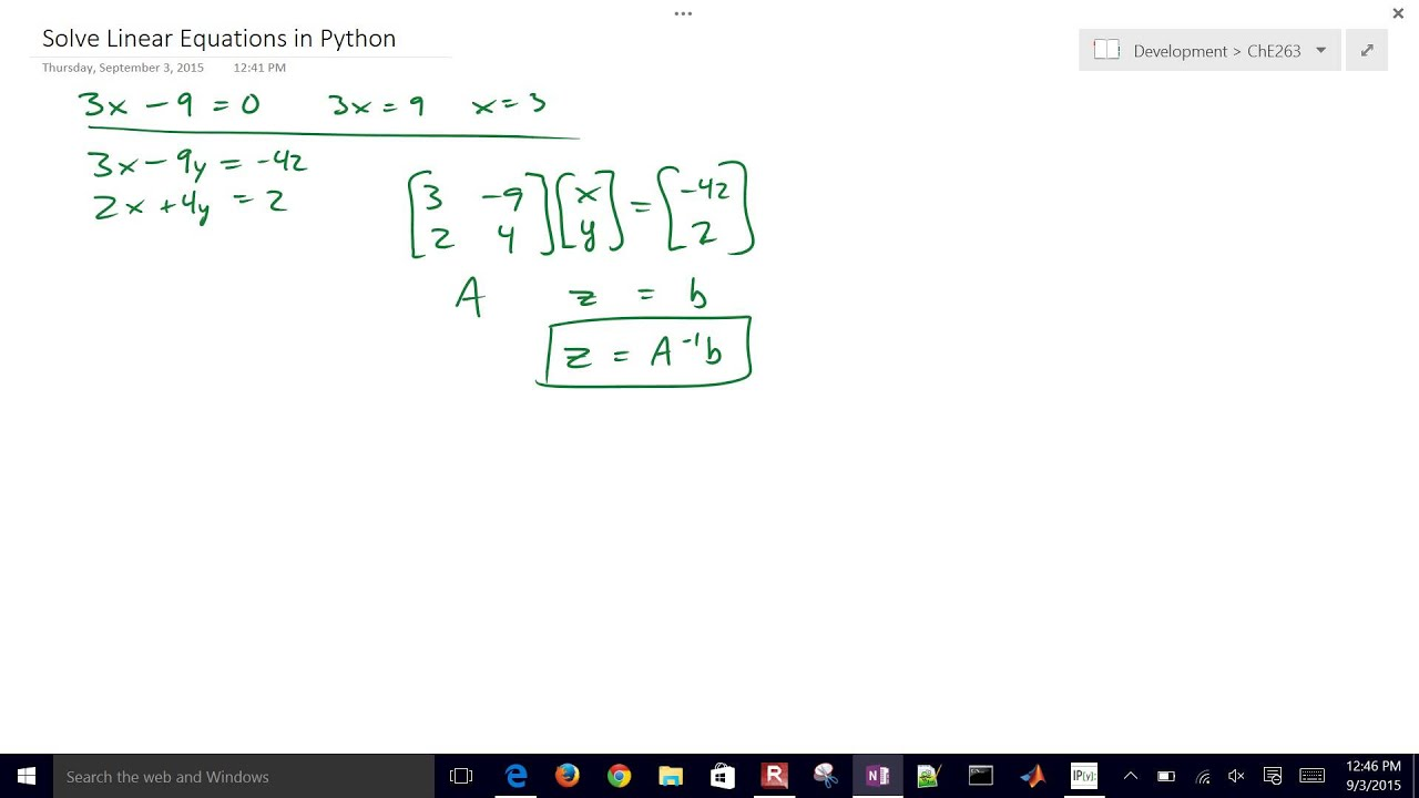 Solve Equations in Python | Programming for Engineers