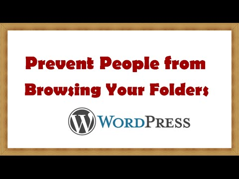 How to Prevent People from Browsing Your Folders