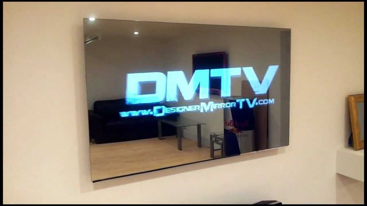 55 frameless led mirror tv displaying 3d effects youtube ForMiroir Tv Samsung