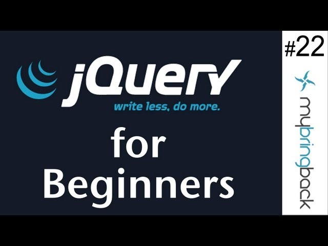 jQuery and AJAX Tutorials 22   Interactive Portfolio