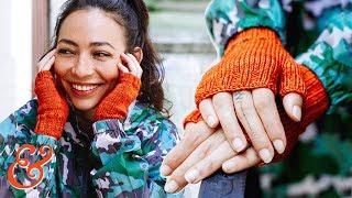FINGERLESS GLOVES Knitting Pattern Tutorial (Step-by-Step)
