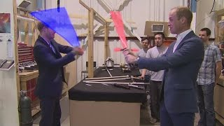 See William and Harry's royal lightsaber battle