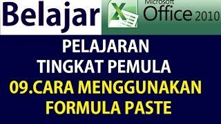 Belajar Microsoft Excel 2010 Untuk Pemula FORMULA PASTE