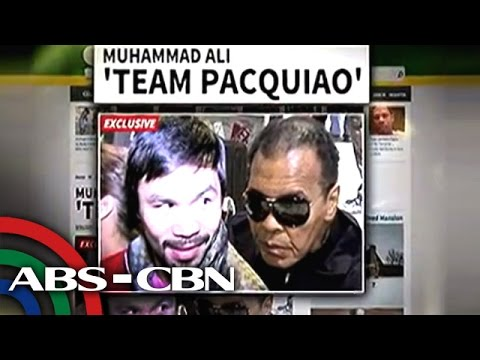 Ali, suportado si Pacquiao sa 'Fight of the Century'