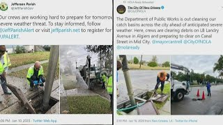 Southeast Louisiana officials prepare parishes for severe weather