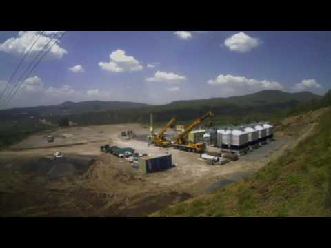 Construction timelapse of 5 MW geothermal plant, Kenya