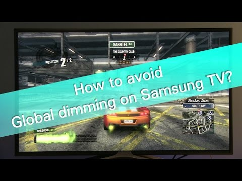 How to avoid global dimming on Samsung TVs?