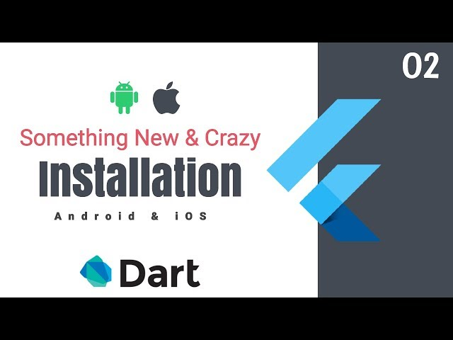 Google's Flutter Tutorials  | 2 - Installation | Something New & Crazy | Android & iOS | Dart